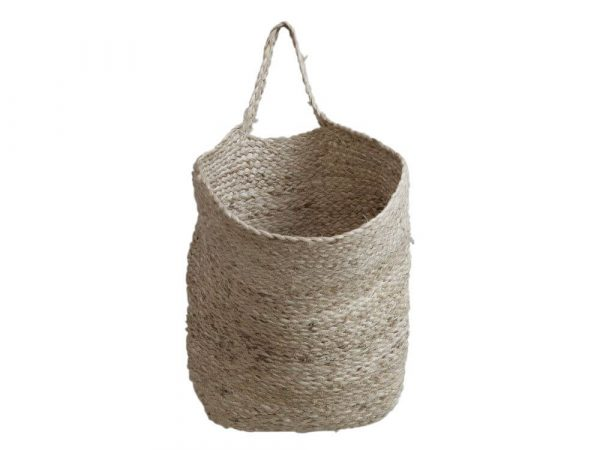 Soft basket with a handle for hanging