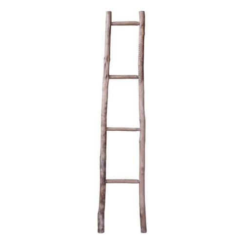 Rustic wooden ladder with four rungs