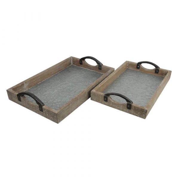 two matching trays of differing sizes