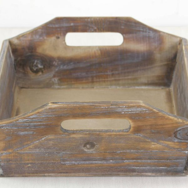 Wooden tray showing all the wood notches and markings