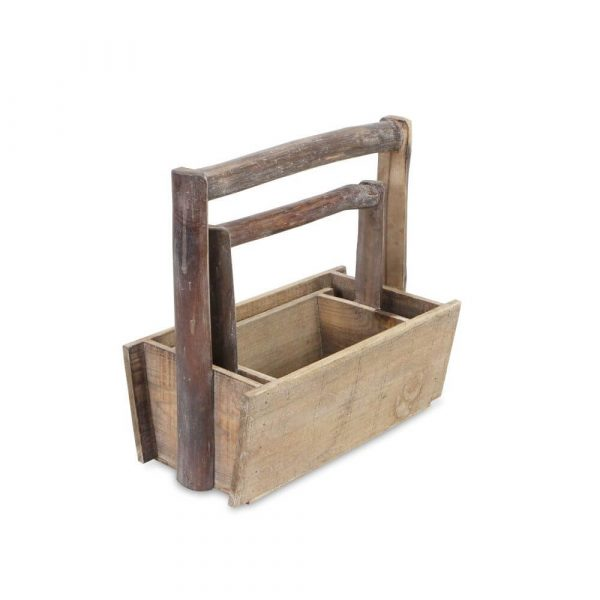 Rectangle trugs with rectangle handles that go all the way across the top of the trugs and down the sides to the base