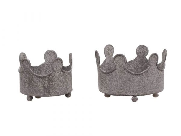 Crown shaped metal candle holders