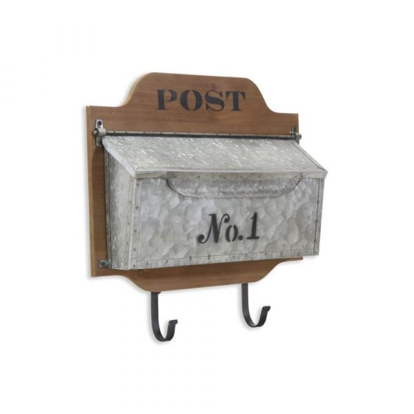 """Galvanised post box with """"No 1"""" printed on it"""