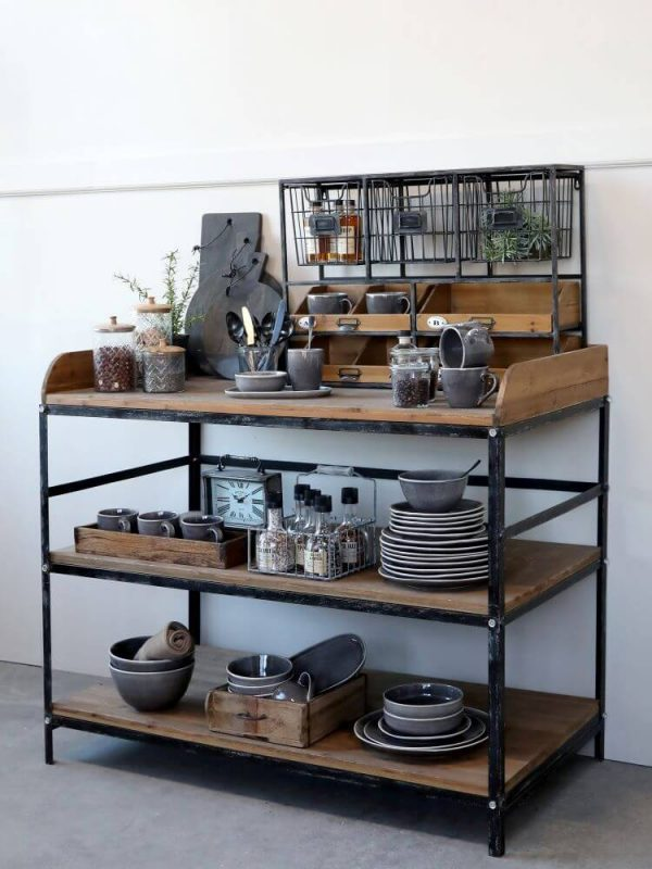 Kitchen display unit with a variety of crockery