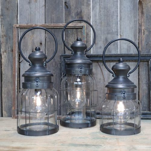 Image of the 3 church sized lanterns available