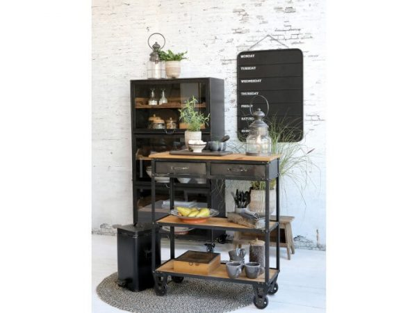 Display with a range of rustic items
