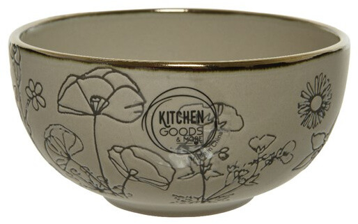 Small round bowl with flower imprinted on