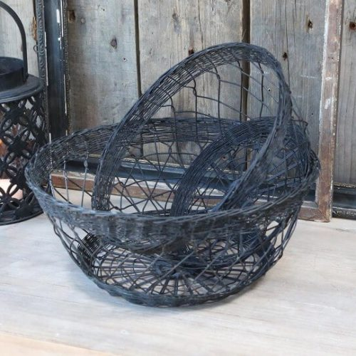 wired baskets. Matching but 2 different sizes