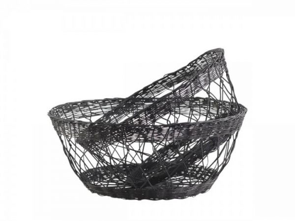 2 matching wire effect baskets