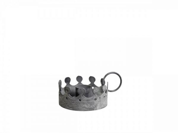 Crwon like candle holder with a handle to the side
