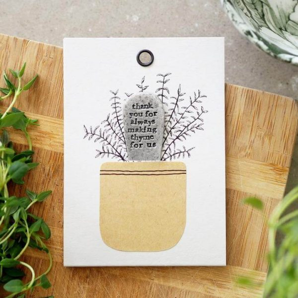 Card with plant marker
